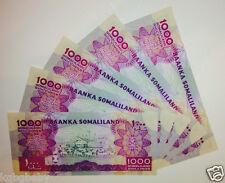 5 x Uncirculated BANKNOTES_SOMALILAND_Consecutive Serial Numbers