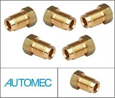 AUTOMEC Brake Pipe Brass Union Fittings Male 10mm x 1mm for 3/16 Pipe (5)