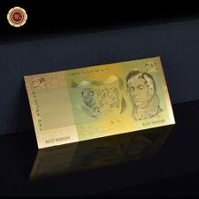 WR 24K Gold Australia Banknote 1985 Johnston/Fraser $2 Paper Note Collection