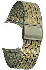 Cinturino Bicolore in Acciaio Inossidabile 7-Reihig 18mm STEG larghezza rundanstoss chiusura a clip