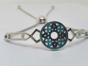 LINKS OF LONDON Timeless Sterling Silver Black Sapphire Bracelet RRP425 NEW