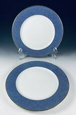 """1980 Block Spal Portugal BLUE SKIES 2- 8"""" Salad Plates EXC (3 sets available)"""