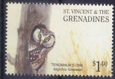 Tengmalms Owl, Birds of Prey, St. Vincent & Grenadines 2001 MNH