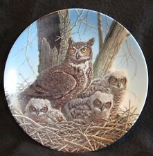 The Great Horned Owl Jim Beaudoin 1989 Plate 2nd in The Stately Owls Knowles Coa