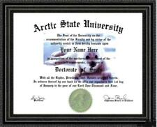 Seal Lover's Doctorate Diploma / Degree Custom made and Designed for you Unique