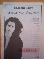CHEAP and NASTY Beautiful Disaster 1991 UK Poster size Press ADVERT 16x12 inch