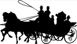 "Pair of 11"" Horse & Carriage Horsebox Decals"