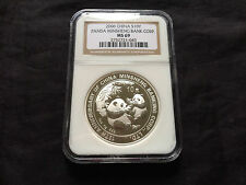 China 2006 S10Y Silver Panda Minsheng Bank Corp. NGC MS-69