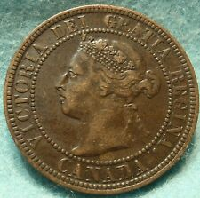 1901 VF-XF Grade CANADA LARGE CENT Victoria COIN No Res CANADIAN<