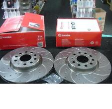 VW GOLF MK5 1.6 1.9TDi 2.0GTTDI 140 BRAKE DISC DRILLED GROOVED BREMBO FRONT