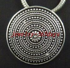 12pcs Tibetan Silver Beautiful Round Flower Charms 36x6mm zn24495