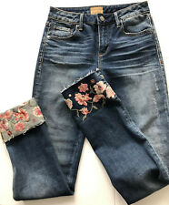 Driftwood Colette Jeans Sz 26 Crop Floral Embroidery Retail $110