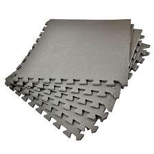 6 x large EVA Soft Foam Mats Protect Floor Gym Exercise Interlocking Home Play