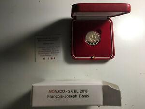 2 EURO MONACO 2018 BE 250 ANS NAISSANCE BOSIO COMMEMORATIVE PROOF