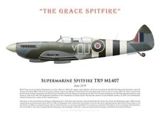 "Print Spitfire TR.9 ML407, ""The Grace Spitfire"", UK, June 2019 (by G. Marie)"