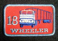 TRUCK EMBROIDERED SEW ON ONLY PATCH 18 WHEELER RIG TRUCKING ADVERTISING 3 x 2
