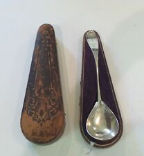 EARLY 19th CENTURY AMERICAN COIN SILVER SOUP LADLE, BRITE-CUT DECOR.,115 GRAMS