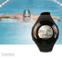 Swimovate PoolMate HR HRM Swimming Watch Pool Lap Leght Counter Computer Black