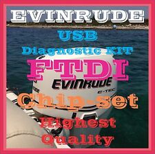 Professional Evinrude E-TEC and FICHT FTDI USB Diagnostic High Quality KIT