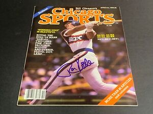 Ron Kittle Chicago White Sox Autographed Signed Chicago Sports Magazine