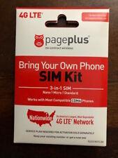 PAGE PLUS 4G LTE MICRO MINI SIM CARD UNLIMITED VERIZON WIRELESS BY PAGE PLUS !