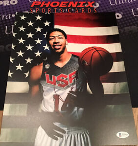 Anthony Davis Signed Auto 11x14 Olympics USA Photo Beckett Sticker Only
