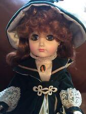 "18"" Effanbee Doll Green Dress, Red Hair, Beautiful 1981"