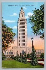Baton Rouge Louisiana LA State Capitol University Lake Postcard 1930-45