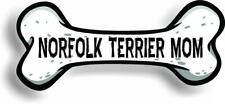 "Dog Mom Norfolk Terrier Bone Car Magnet Bumper Sticker 3""x7"""