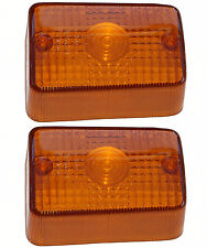 Honda C90 Cub indicator winker lens, pair, front left & right (1987-2003)