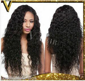 New Wavy Black Long Unprocessed Virgin Water Wave Curly Women Hair Wigs