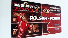 used ticket POLAND - RUSSIA 2003 (World League - volleyball)