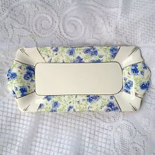 Royal Albert Blue Pansy Sandwich Plate 10 3/4 inches (986)