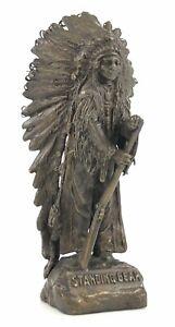 CARL KAUBA Standing Bear Indian Bronze Sculpture Etched Signature