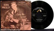 ELVIS PRESLEY-Love Me Tender-Picture Sleeve & 45-RCA VICTOR #47-6643-Rockabilly