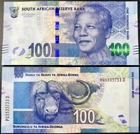 SOUTH AFRICA 100 RAND 2014 / 2016 P 141 L. Kganyago MANDELA UNC