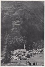 D3552 Valtournenche - Panorama - Stampa d'epoca - 1940 vintage print