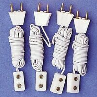 1/12 The Dolls House Emporium set of 4 plug/ single socket extensions 7428