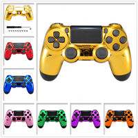 Custom Chrome Upper Shell Faceplates Replacement Kit for PS4 Pro Slim Controller