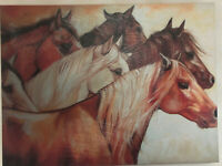 "MARCIA BALDWIN ARTIST ""THE POWER OF SIX"" CANVAS WALL ART HORSE HOME DECOR NEW"