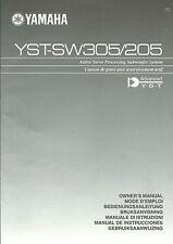 Yamaha YST-SW305 YST-SW205 User Manual / BDA / Bedienungsanleitung