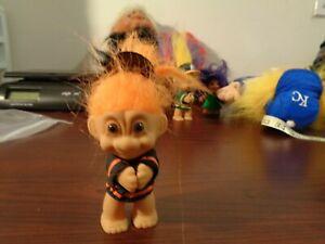 "Vintage RussTroll Doll Russ 3"" MLB San Francisco Giants Baseball Orange Hair"