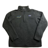 Patagonia Better Sweater Quarter 1/4 Zip Pullover  Black Women's L Company Logo