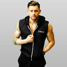 Cotton Hoodies Big & Tall Sleeveless Activewear for Men