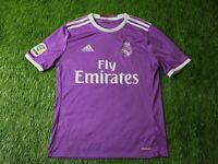 REAL MADRID SPAIN 2016/2017 FOOTBALL SHIRT JERSEY AWAY ADIDAS ORIGINAL YOUNG XL