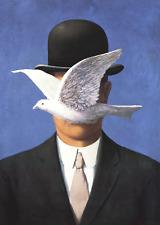 L'homme au chapeau melon by Rene Magritte Art Print Dove 2013 Poster 19.75x27.5
