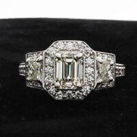 Diamond Engagement Ring 2.40 Carat GIA Certified Emerald Cut Diamond 18k Gold