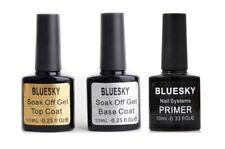 BLUESKY Base & Top Coat & Primer |  UV/LED Nagellack Set, 3er Pack (3 x 10 ml)