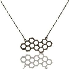 Pave Diamond Black Rhodium 925 Sterling Silver Chain Necklace Jewelry
