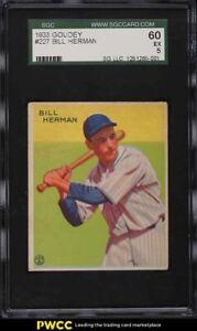 1933 Goudey Bill Herman #227 SGC 5 EX